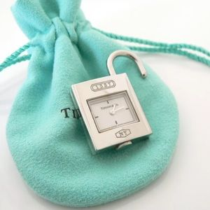 Tiffany & Co 1837 Padlock clock charm